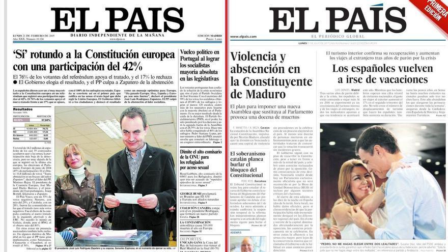 Portadas de El País