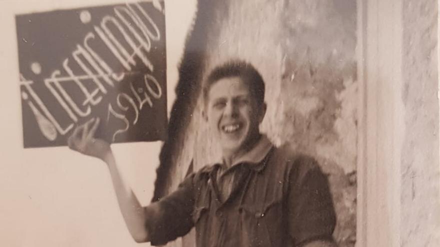 Sala, con 20 años, tras pasar por los campos de concentración franquistas.