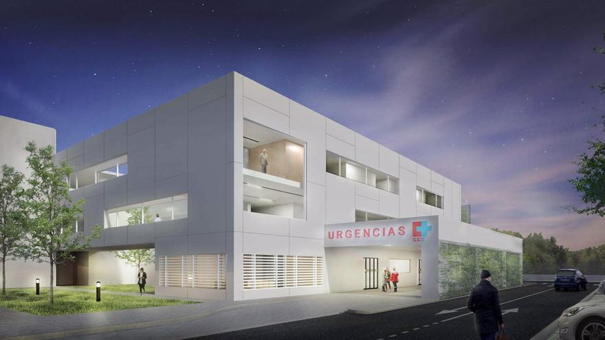 Infografía del nuevo bloque quirúrgico del Hospital de Laredo.