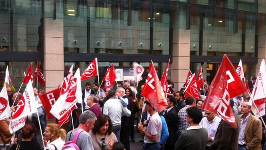 Protesta de empleados de Bankia en LPGC #3
