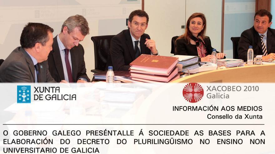 Reunión del Consello da Xunta el 30 de diciembre de 2009 y nota oficial divulgada entonces por el Gobierno de Feijóo