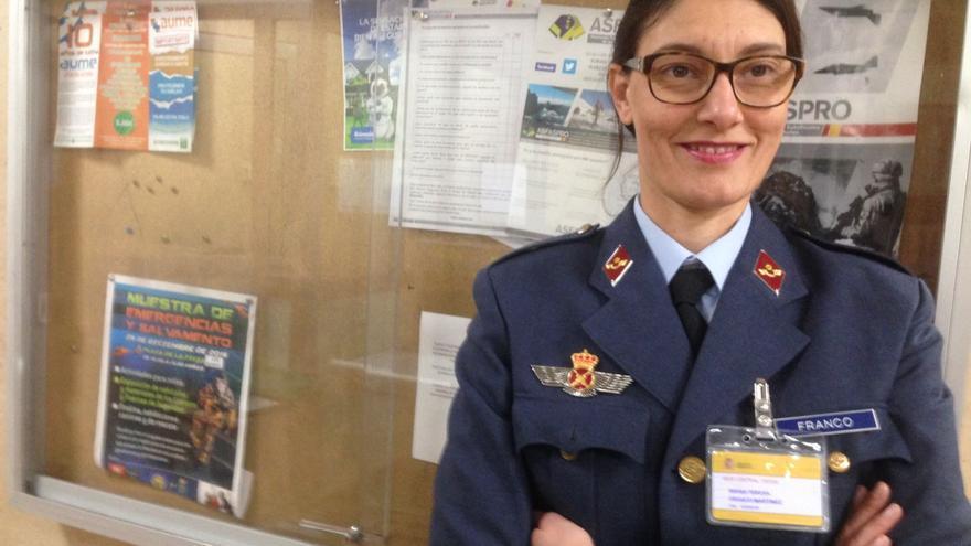 La cabo del Ejército del Aire Teresa Franco, secretaria de Igualdad de la Asociación Unificada de Militares Españoles (AUME).