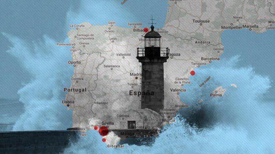 La costa española es vulnerable a la crecida del nivel del mar.