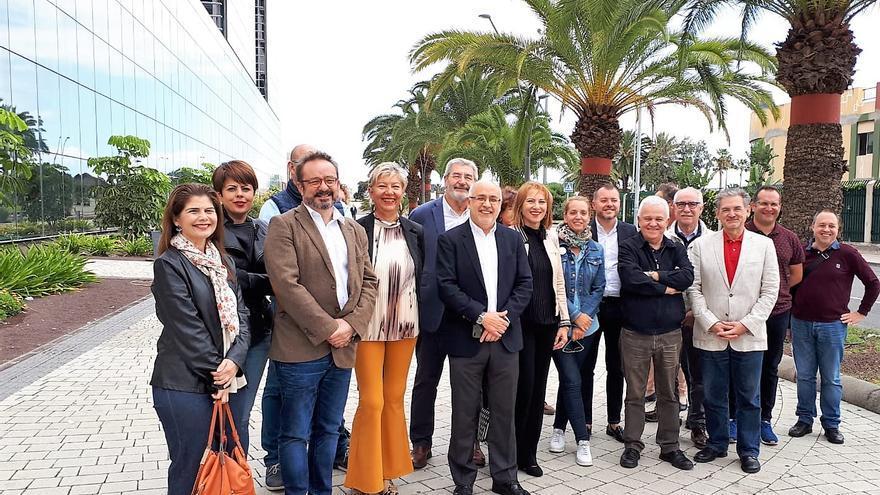 Miembros de la candidatura de Nueva Canarias al Cabildo de Gran Canaria.