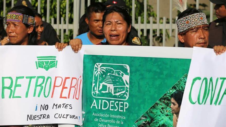 Petroperú afirma que derrame de crudo cerca a protesta indígena fue provocado