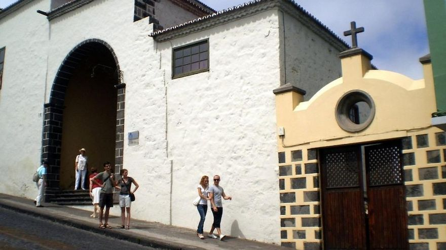 Imagen de archivo del antiguo Hospital de la Santísima Trinidad, en la villa orotavense