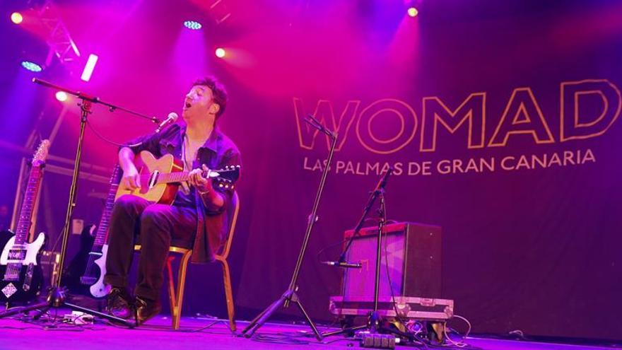 El cantante canario Fajardo  en el Womad.