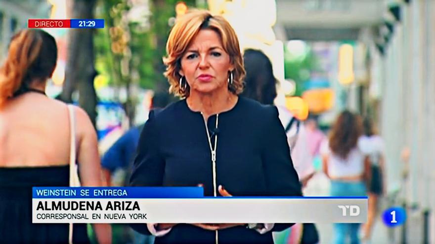 Almudena Ariza en su intervención en el TD-2 del viernes 25