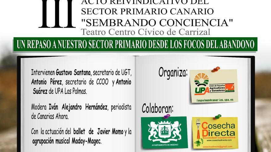 Cartel del acto 'Sembrando Conciencias'.