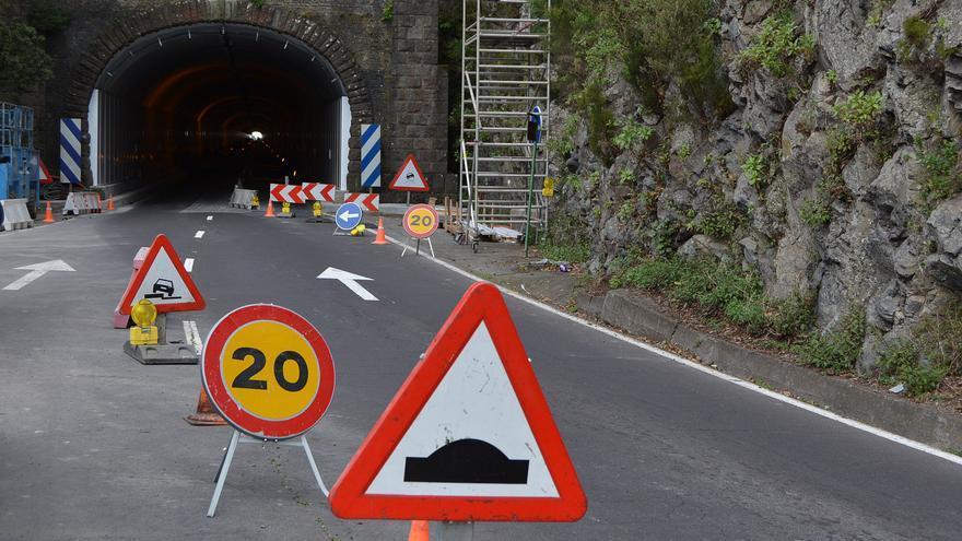 En la imagen, obras en el Túnel de la Cumbre.