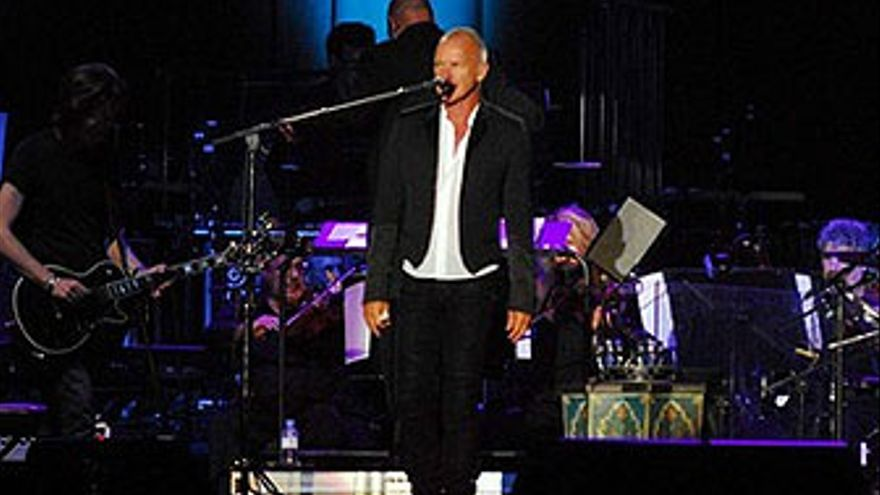 Sting, durante el concierto en LPGC en julio de 2011. (ACFI PRESS)
