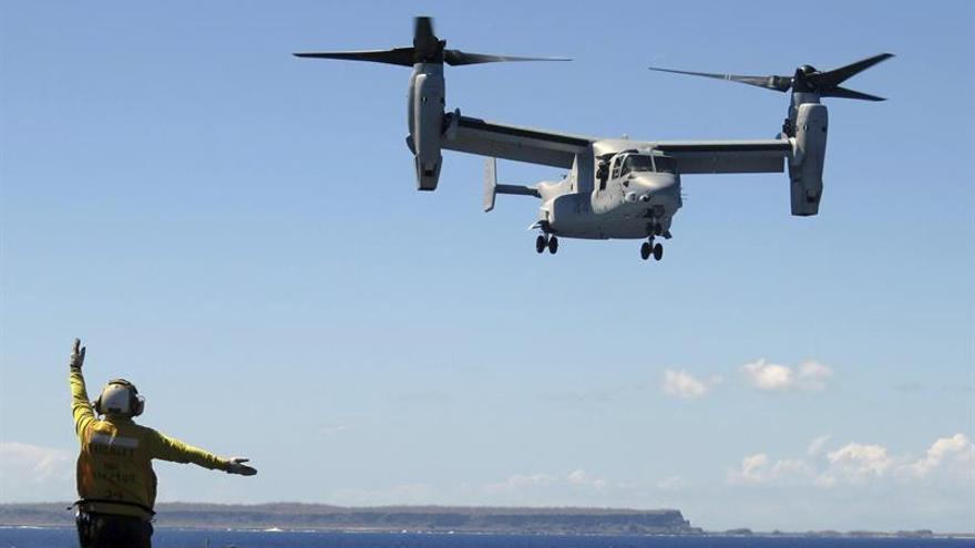 EEUU retoma los vuelos en Japón del avión Osprey tras accidente