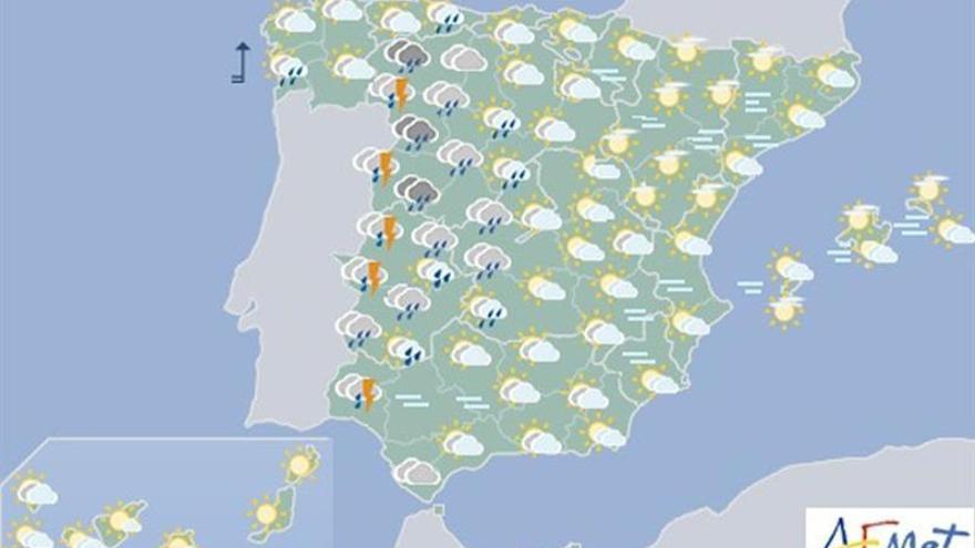 Hoy, precipitaciones en el Sistema Central y no se descartan en Andalucía