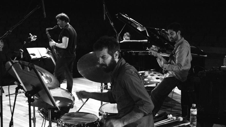 Big Band de Canarias, durante una actuación