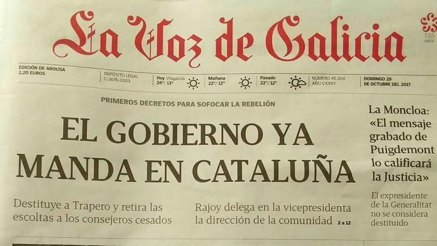Captura de La Voz de Galicia