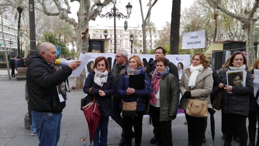 Las familias que piden amparo a la UE,en una de sus últimas movilizaciones.