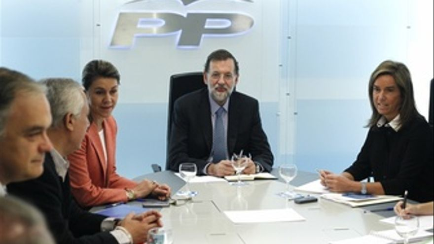 Mariano Rajoy Presiden El Comite De Dirección Del PP