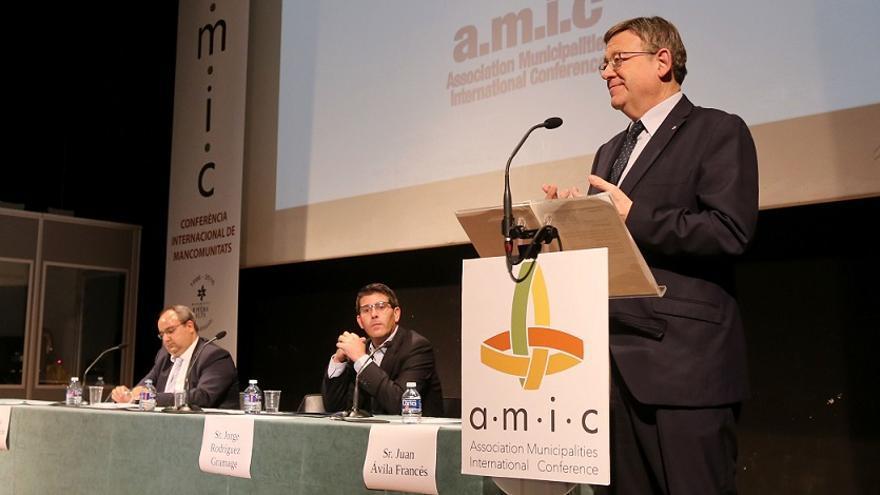 Intervención de Ximo Puig durante la Conferencia Internacional de Mancomunidades