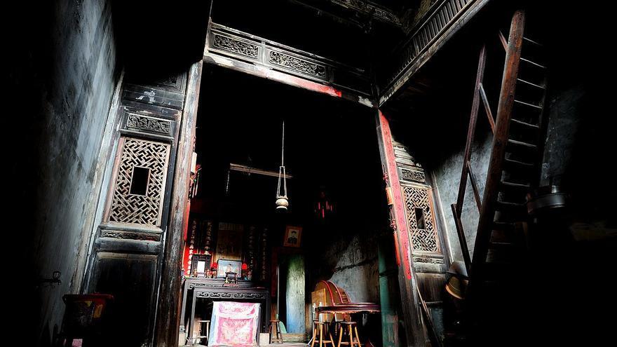 Vivienda del siglo XIX de la familia Shi en Lukang, Taiwan