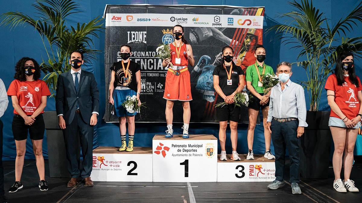 María del Carmen Madueño, campeona de España de boxeo