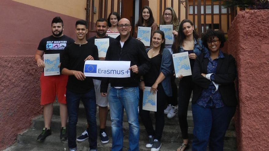 En la  imagen, el grupo de estudiantes del IES  Virgen de las Nieves de Santa Cruz de La Palma que participa en el proyecto Erasmus+ Palmeros en Lituania