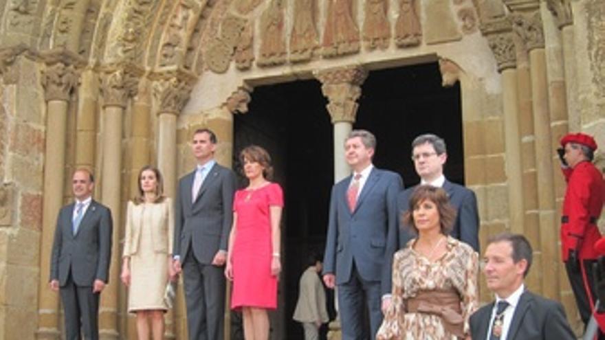 Los Príncipes De Asturias En La Entrega Del Premio Príncipe De Viana.