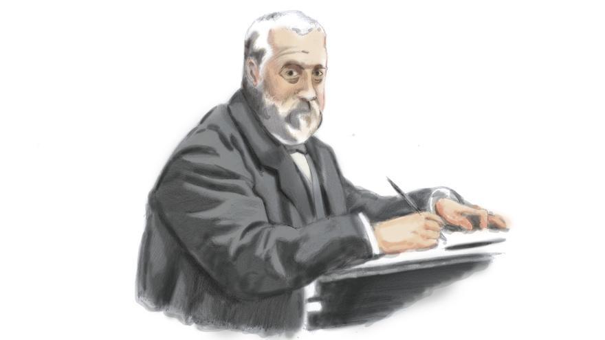 Ilustración de Marcelino Menéndez Pelayo. |