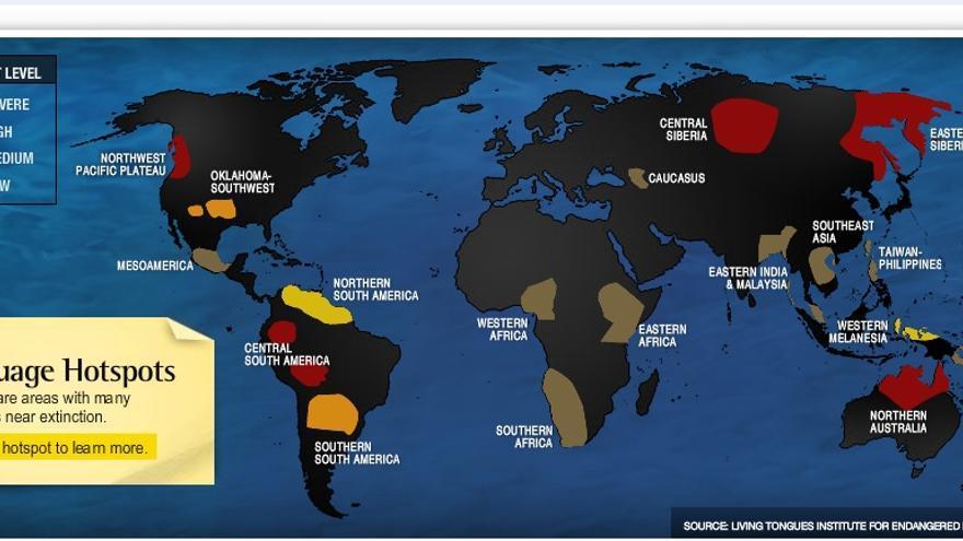 Australia, América Central y América del Norte son la cuna de las lenguas en peligro de extinción