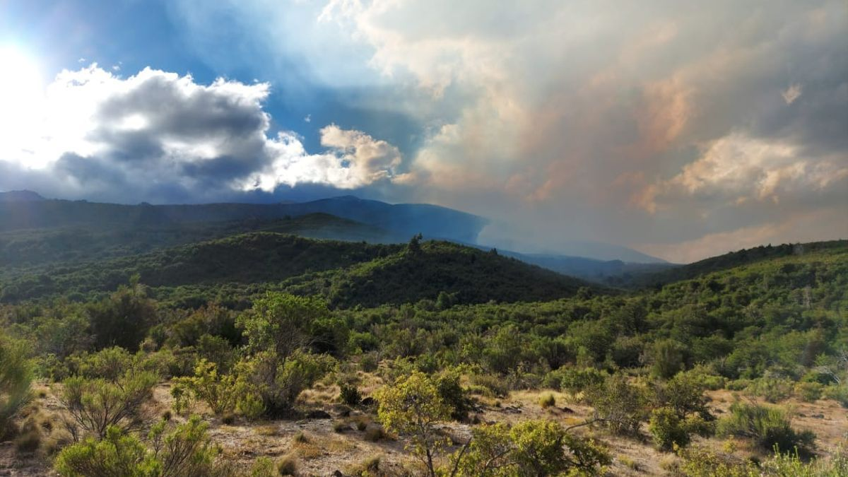 El fuego llegó a Chubut