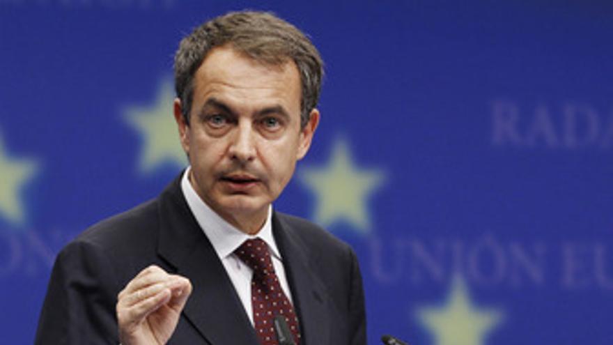 El presidente del Gobierno, José Luis Rodríguez Zapatero, en Bruselas