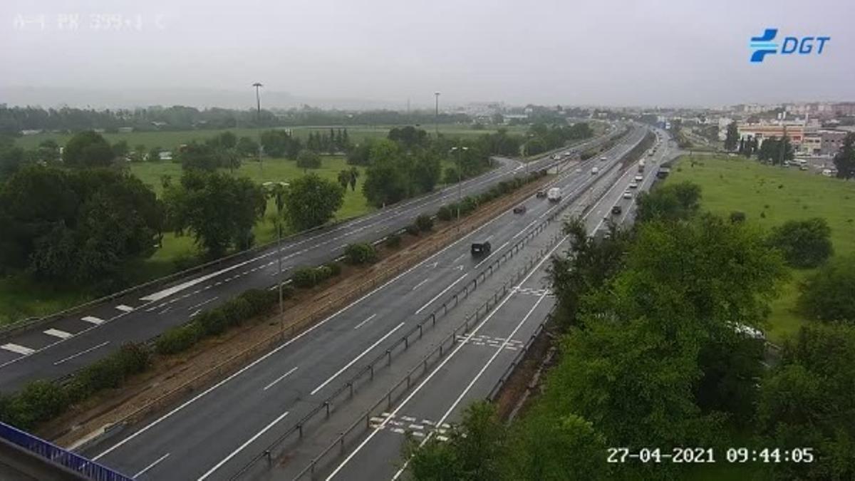 Autovía del Sur este martes en una imagen de las cámaras de la DGT