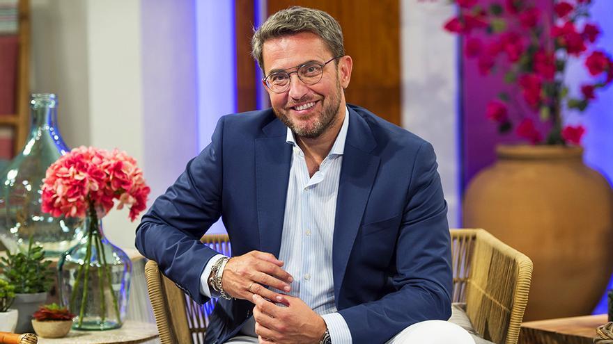 Máximo Huerta, en el plató de 'A partir de hoy'