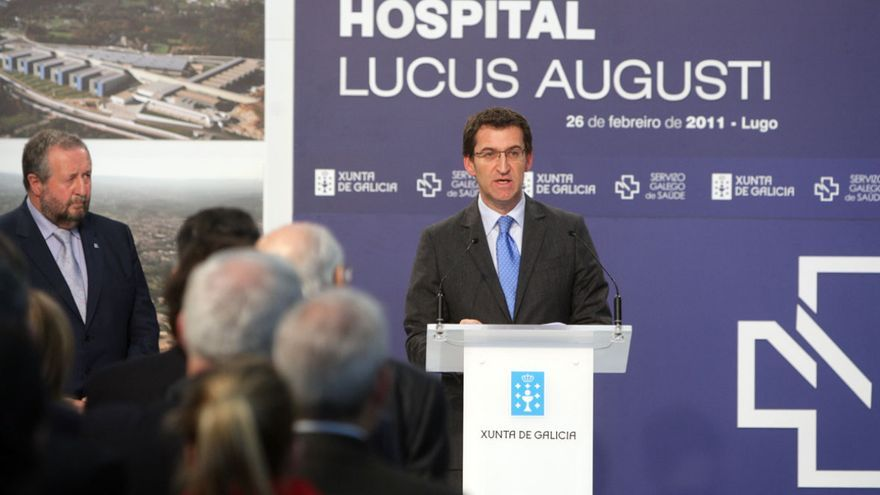 Feijóo prometió el servicio de hemodinámica durante la inaguración del hospital, en la imagen CONCHI PAZ