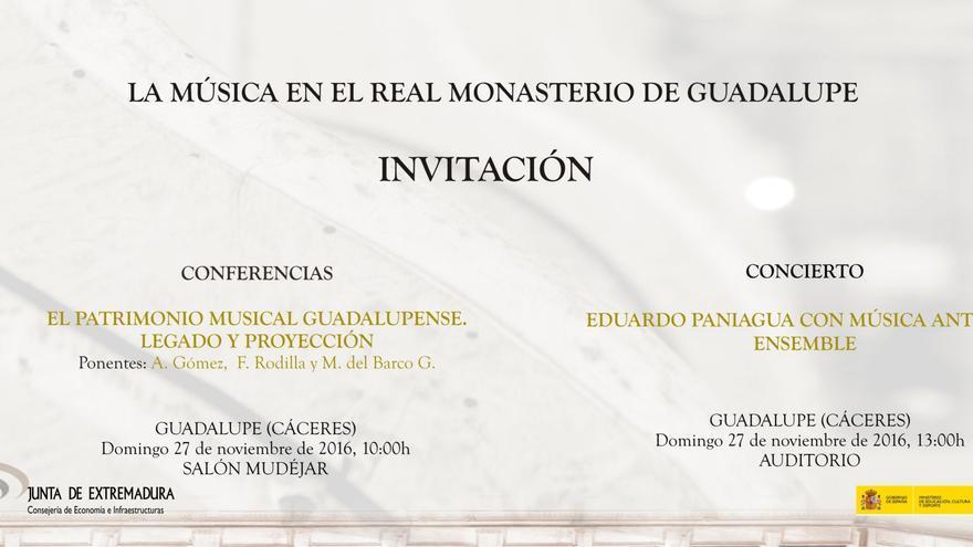 Conferencia concierto Guadalupe