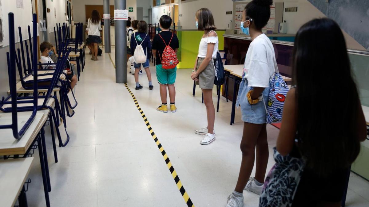 Alumnos de Primaria en un colegio valenciano.