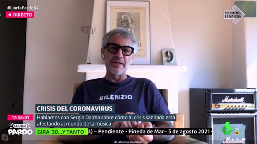 Sergio Dalma, por videollamada con 'Liarla Pardo'