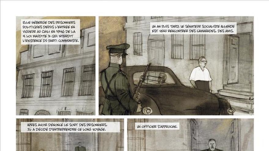 Cara a cara de Allende y Pinochet en un cómic