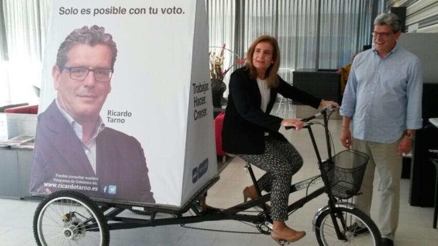 Fátima Báñez participa en un acto en Mairena del Aljarafe para apoyar a Ricardo Tarno