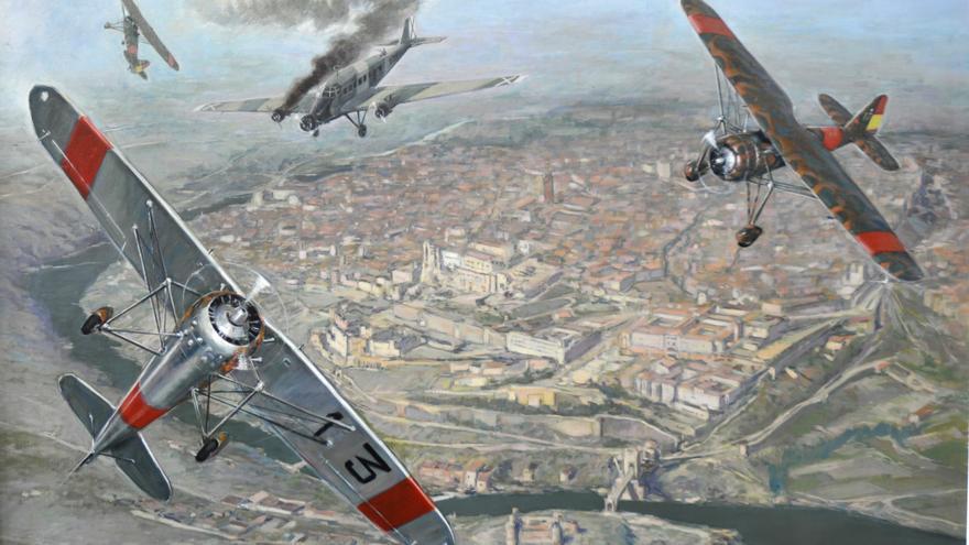 Derribo de un JU-52, Toledo.