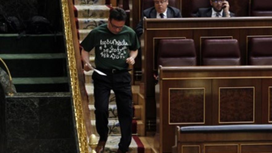 Diputados De La Izquierda Plural Con Camisetas Por Educación