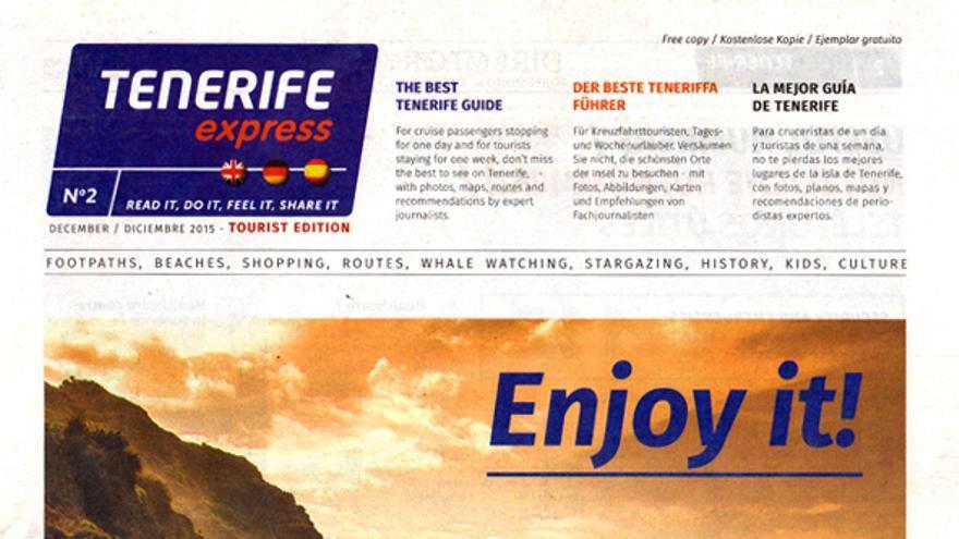Portada de un número de 'Tenerife Express'