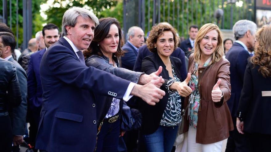 Ángel Garrido y Dolors Montserrat en un acto de la candidatura del PP en las europeas el 11 de abril.