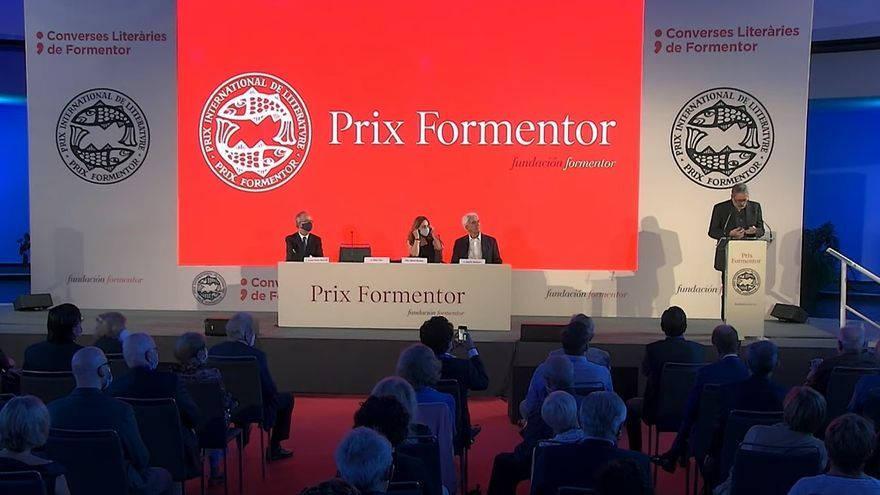Ceremonia de entrega del Prix Formentor 2021 al escritor argentino César Aira. En el Hotel Sevilla Barceló Renacimiento