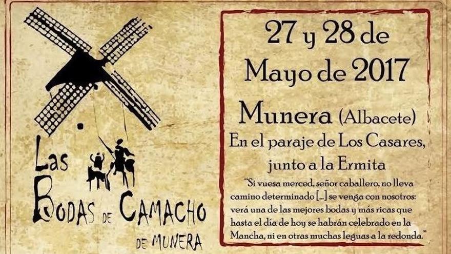 Cartel de la representación de las 'Bodas de Camacho' en Munera (Albacete)