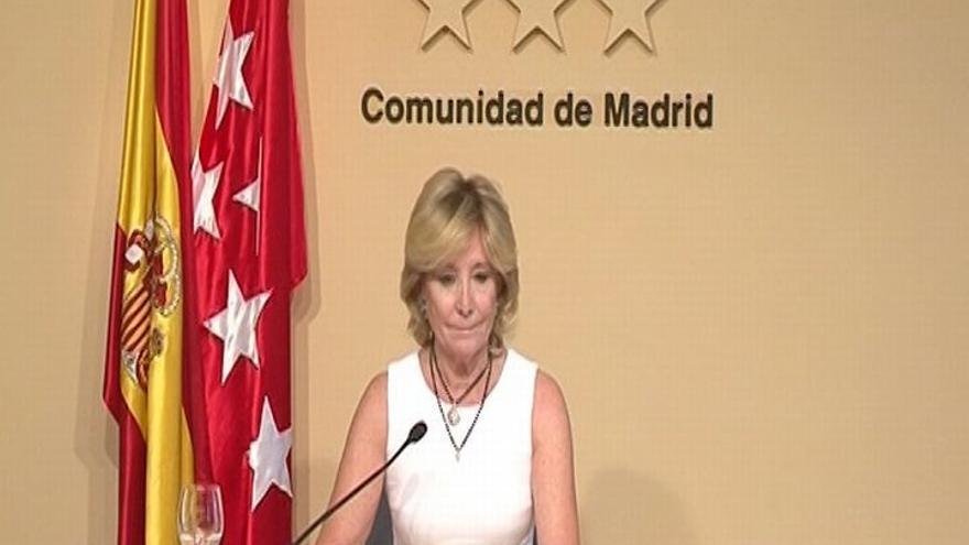 """Valcárcel cree que la sucesión de Aguirre """"no es un problema para Rajoy"""" y no ha oído nada """"contra"""" González"""