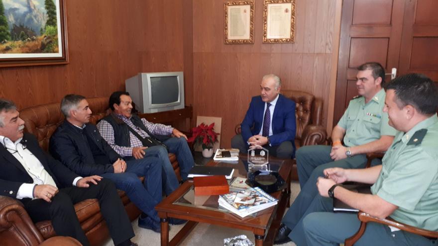 Reunión celebrada la Dirección Insular de la Administración General del Estado en La Palma.
