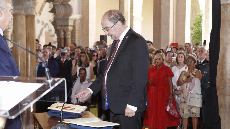 Javier Lambán jura el cargo como presidente de Aragón