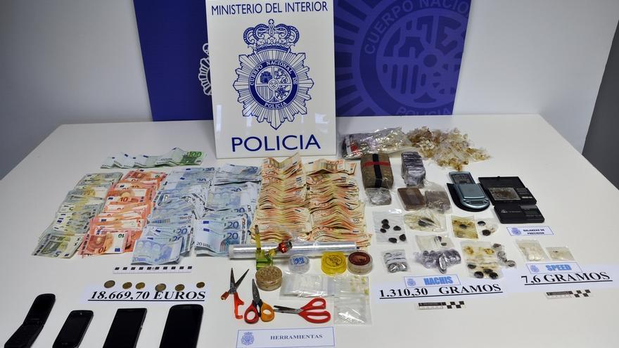 Desarticulado en San Sebastián un punto de venta de drogas gracias a una denuncia anónima en la web de Policía Nacional