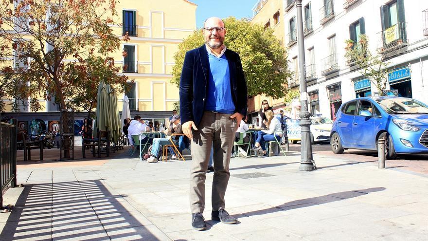 José Fernández, en la Plaza del Rastrillo | SOMOS MALASAÑA
