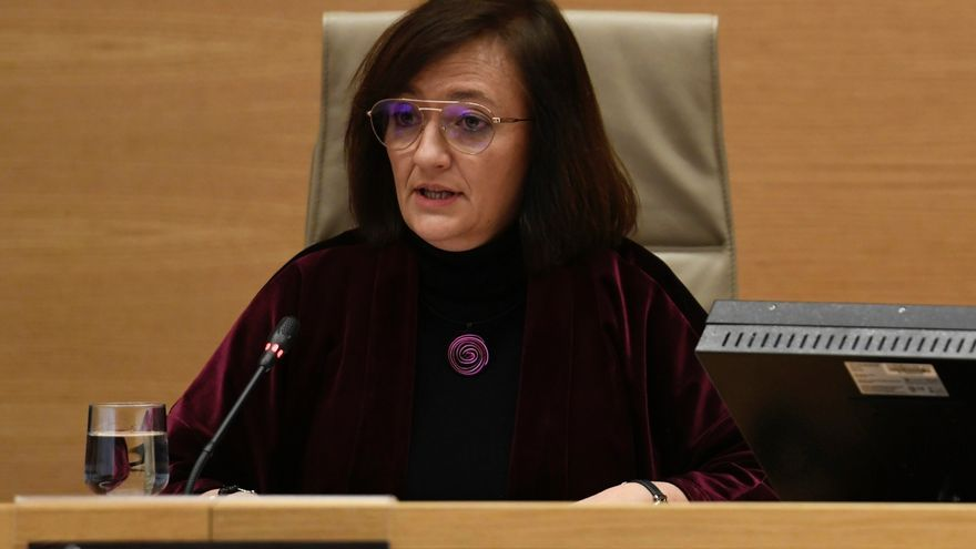 La presidenta de la Autoridad Independiente de Responsabilidad Fiscal (AIReF), Cristina Herrero, durante una comparecencia en el Congreso.- EFE/Víctor Lerena/Archivo